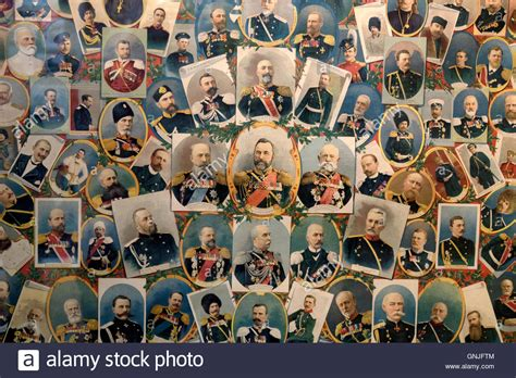 contemporary history exhibit depicting russian rulers at the state central