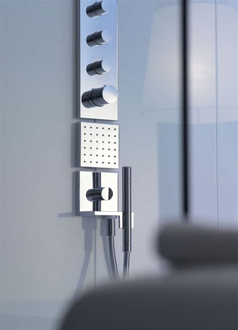 Hansgrohe Selecta Shower by Axor Starck Shower Tap With Plate By Hansgrohe Design Philippe Starck