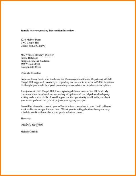 9 request information letter hr cover letter
