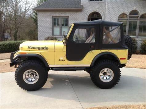 1978 Jeep Renegade Purchase Used 1978 Jeep Cj 5 Renegade Levis Edition