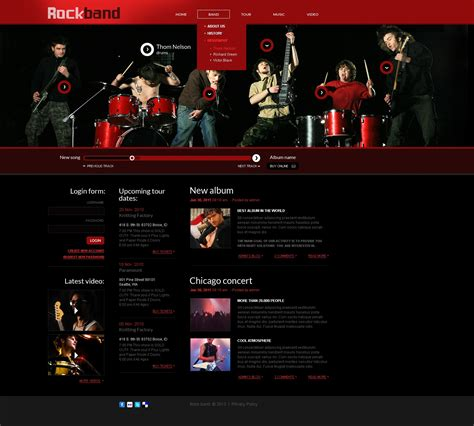 Music Band Website Template 41992 Band Website Templates