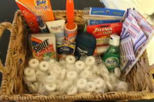 what to put in the bathroom baskets at your wedding for