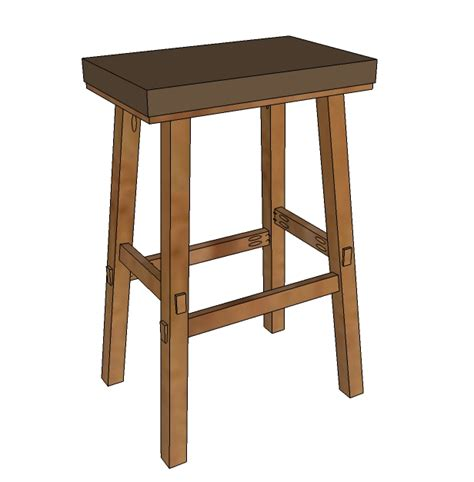 wood  bar stool plans blueprints  diy