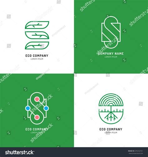 Vector Set Abstract Green Tree Logo Stock Vector 676332721 Shutterstock Green Tree Vector Logo Design Template Stock Vector More Images Of 2015 465664290 Istock