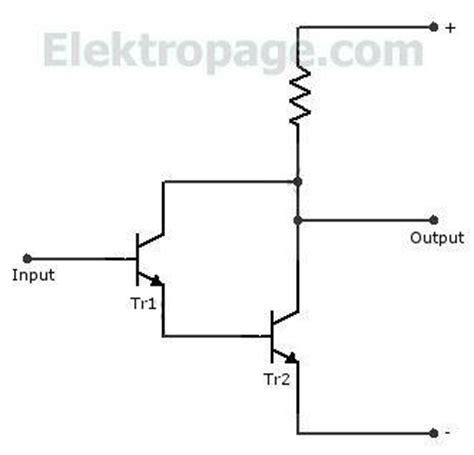 darlington transistor inverter darlington pair transistor configuration schematic circuits elektropage