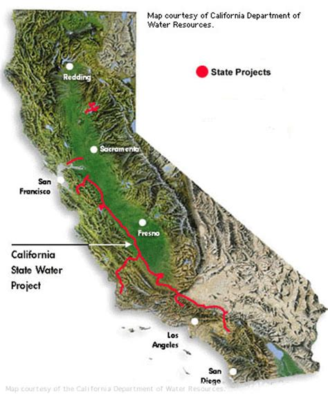 california map project state water project