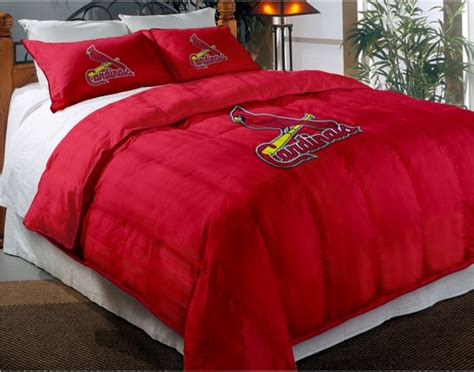 cardinals comforter set st louis cardinals mlb twin chenille embroidered