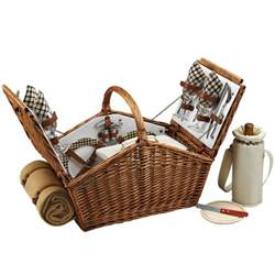 The Picnic Basket Huntsman Picnic Basket For Four W Picnic Blanket