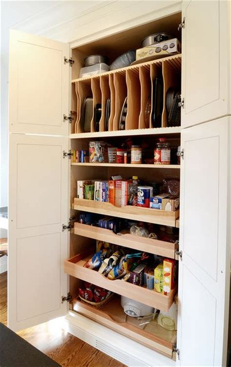 vertical storage pantry and pull out shelves on pinterest