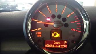 2008 Mini Cooper Warning Symbols Half Engine Power Warning Light 2008 R56 Any Ideas On