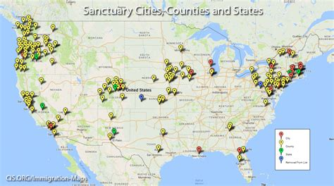 united states map of sanctuary cities the election map msm is hiding source https www