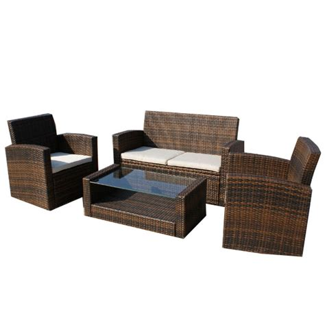 wicker settee set customer reviews for valencia rattan sofa set with cushion