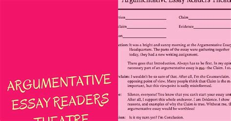 Essay On My Classroom by In My Classroom The Forest And The Trees Argumentative Essay Readers Theatre