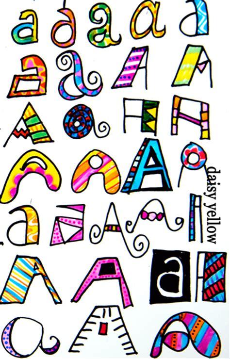 doodle letter ideas doodle letters two