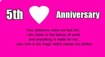 5th wedding anniversary wishes for husband wishes4lover