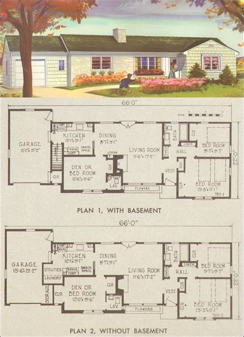 elegant 1950s ranch house floor plans new home plans design elegant retro ranch house plans new home plans design