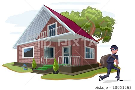 country house insurance thief robbed country house property insuranceのイラスト素材 18651262 pixta