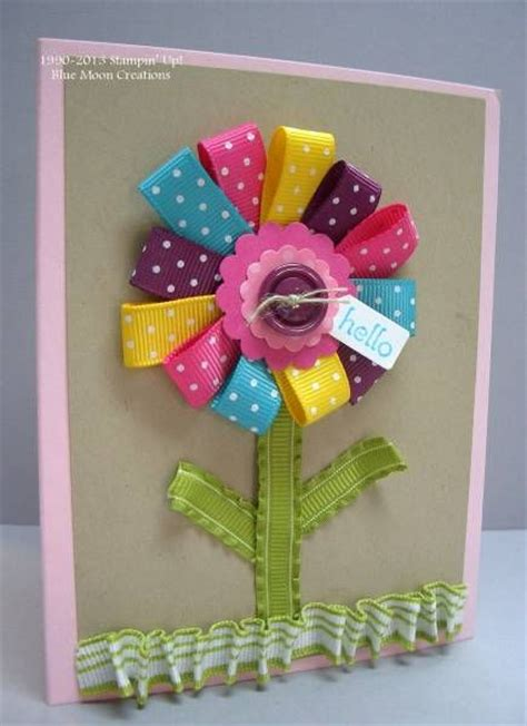 Handmade Cards Using Ribbon - 25 unique ribbon cards ideas on diy cards