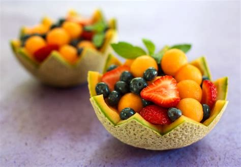 Creative Ideas For Kitchen Melon Cups With Strawberries And Blueberries