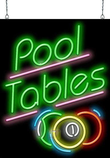 pool tables neon sign  balls fmz   jantec neon