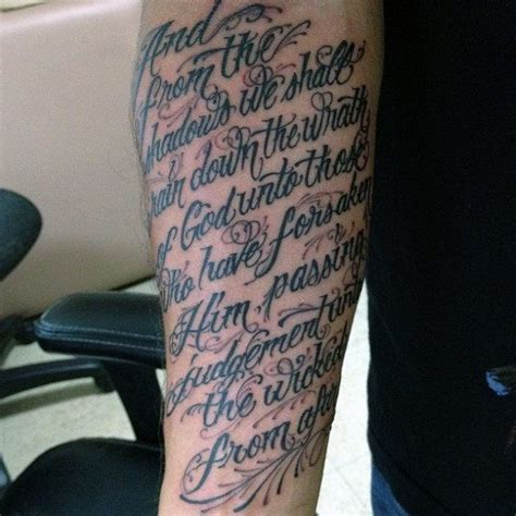 tattoo bible images 50 bible verse tattoos for men scripture design ideas