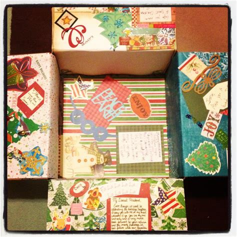 decorated christmas boxes ideas christmas deployment care package decorated box for