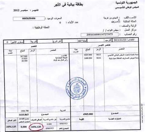 modele fiche de paie tunisie document