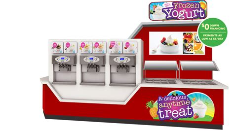frozen yogurt toppings bar equipment soft serve ice cream makers