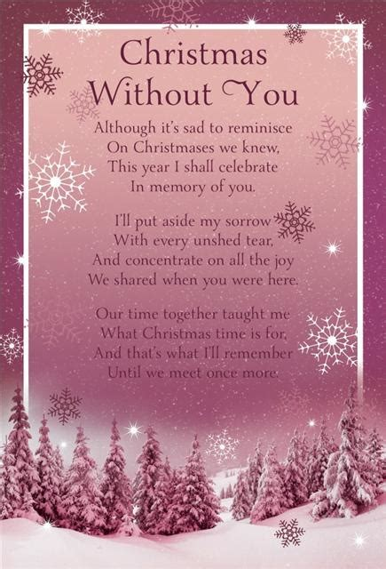 Images Of Christmas Without You | christmas graveside memorial bereavement cards variety ebay