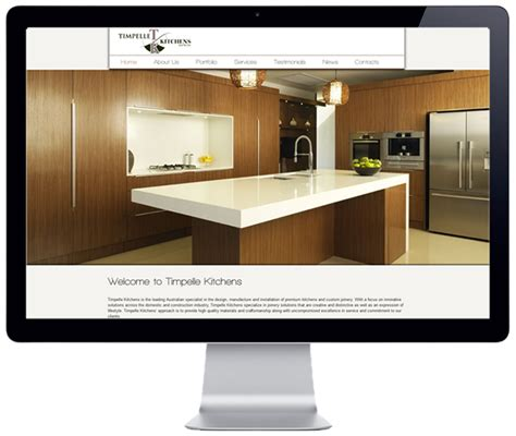 Portfolio Timpelle Kitchens   timpelle kitchens menkom web design it support services