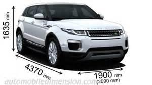 dimensions des voitures land rover longueur x largeur x
