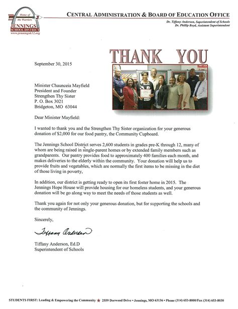 Community Service Thank You Letter Community Initiatives