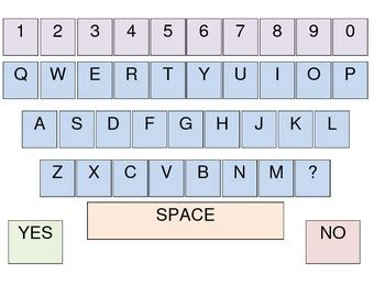 printable keyboard layout printable low tech aac qwerty keyboard by nicole s speech