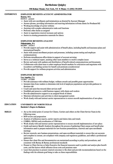 sle resume for client relationship management employee benefits account manager resume employee