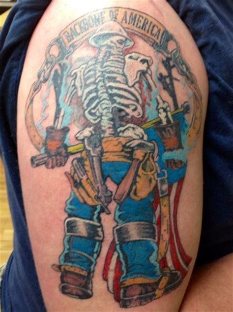 lineman tattoo designs great flag pictures tattooimages biz