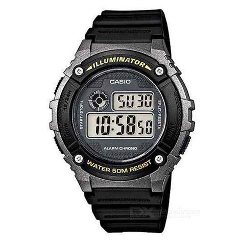 Jam Casio Original W 216h 1b casio w 216h 1b montre d alarme num 233 rique chronom 232 tre