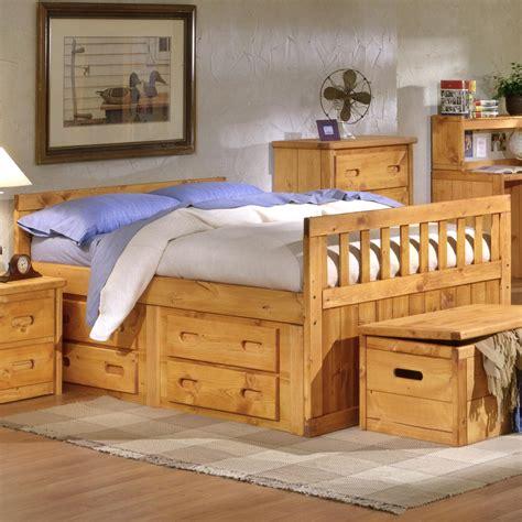 captain bed full trendwood bunkhouse full bayview captain s bed olinde s