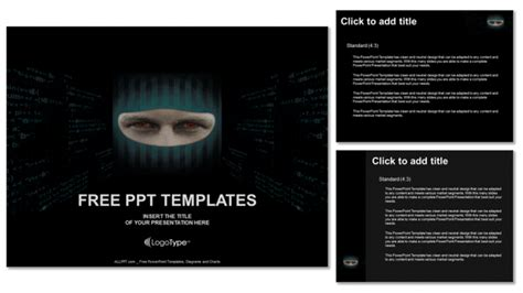 ppt templates for hacking face hacker computer powerpoint templates