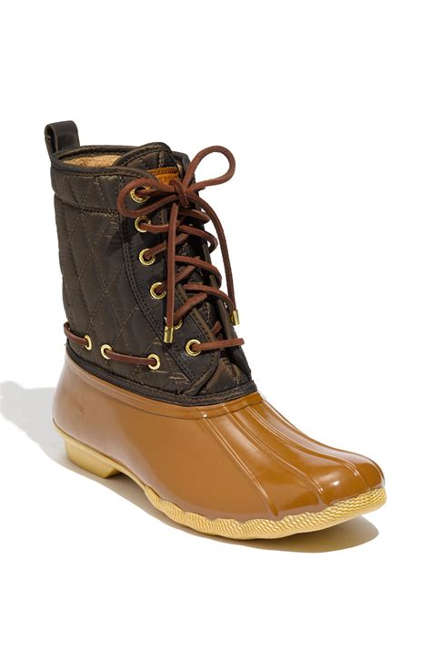 sperry boots sperry top sider shearwater boot in gold bronze lyst