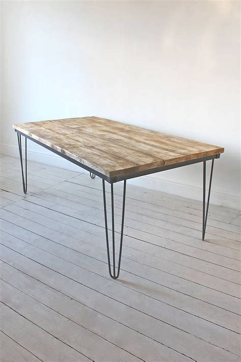 dining table with steel hairpin legs