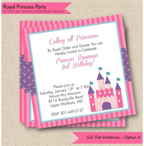 princess birthday invitations free free princess invitations home ideas