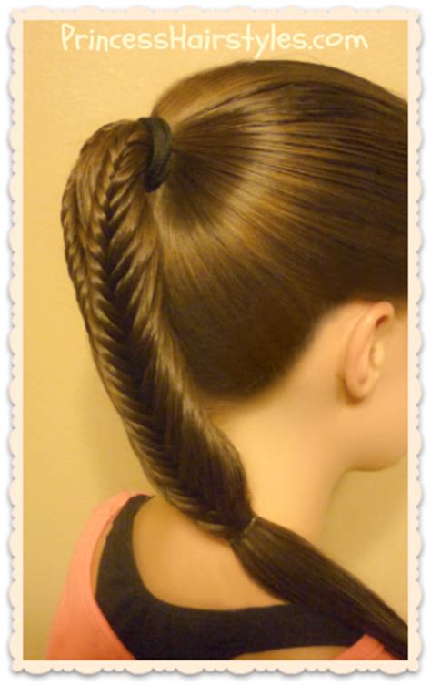 ponytail hairstyles back to school back to school hairstyles split fishtail braid ponytails