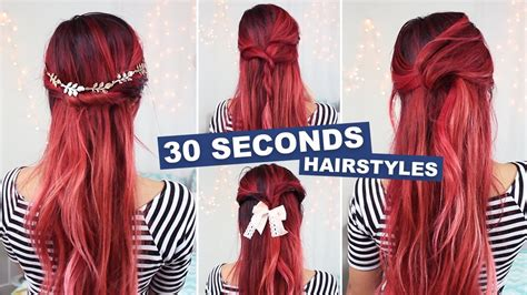 x3haha hairstyles 5 hairstyles in under 30 seconds youtube