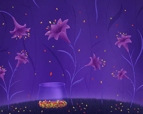 волшебные цветы и конфетки с мультяшками обои для Free Flower Powerpoint Template Wallpapers 1280 X 1024