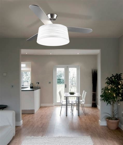 ceiling fan with shade modern ceiling fan with light and drum shade