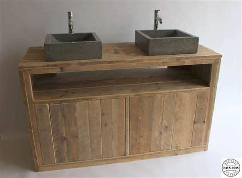 Meuble salle de bain Pays Bois avec 2 portes   idées