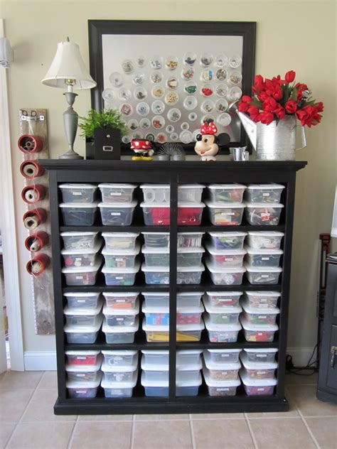 blukatkraft bead storage craft room ideas - Craft Room Storage Ideas