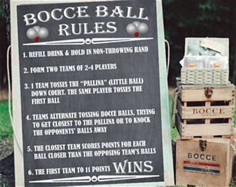 backyard bocce ball rules lawn games sign etsy