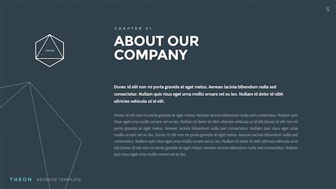 Theon Minimal Creative Keynote Template By Slidehack Graphicriver Theon Keynote Template