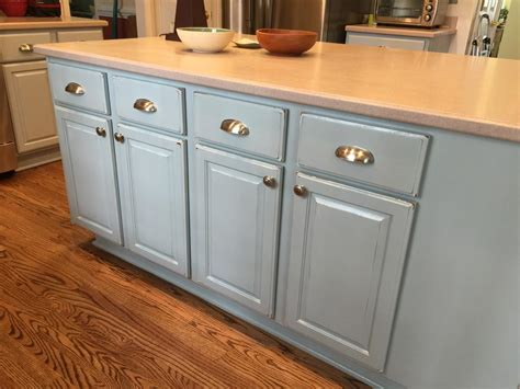 colonial pine wedgewood gray  cabinet girls
